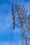 High voltage tower. Are big power transport Royalty Free Stock Photography
