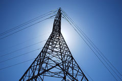 High voltage tower Stock Photos