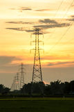 High Voltage Tower Royalty Free Stock Photo