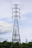 High voltage tower Stock Images