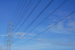 High voltage tower Stock Image