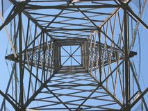 High voltage tower 3. High Voltage tower Royalty Free Stock Images