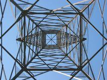 High voltage tower 4. High voltage tower Stock Images