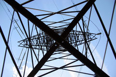 High-voltage tower stock image