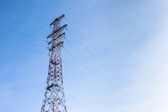 High-voltage tower. Royalty Free Stock Photos