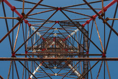 High-voltage tower. Royalty Free Stock Photography