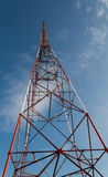 High-voltage tower. Royalty Free Stock Image