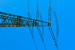 High voltage tower on a background with sky Royalty Free Stock Photo