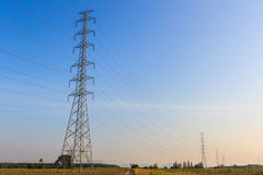 High-voltage tower. Stock Images