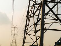 High voltage tower or electricity transmission power lines. Stock Photography