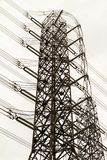 High voltage tower. royalty free stock images