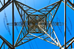 High Voltage Tower On A Background With Sky Royalty Free Stock Images