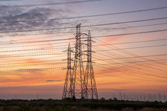 High voltage tower from the power plant industry stock photos