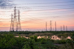 High voltage tower from the power plant industry Stock Image