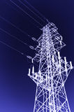 High-voltage tower sky background. High voltage post.High-voltage tower sky background royalty free stock photography