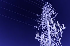 High-voltage tower sky background. High voltage post.High-voltage tower sky background royalty free stock image
