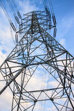 High voltage tower and sky. Royalty Free Stock Photography
