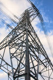 High voltage tower and sky. Stock Images