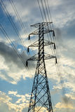 High-voltage tower sky. High voltage post High-voltage tower sky Royalty Free Stock Photos