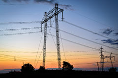 High voltage tower. Stock Photography