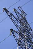 High voltage towers. In countryside Stock Photography