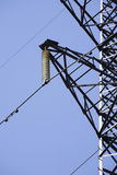 High voltage towers. In countryside Stock Images