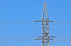 High-voltage towers Stock Photo