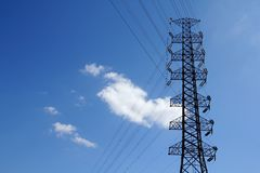 High-voltage towers. Stock Image