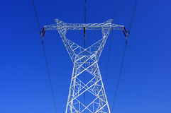 High voltage towers Royalty Free Stock Images