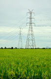 High-voltage towers Royalty Free Stock Images