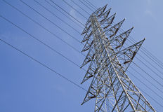 High voltage towers. Stock Photos