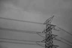 High voltage towers. Royalty Free Stock Photography