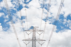 High-voltage towers Royalty Free Stock Image