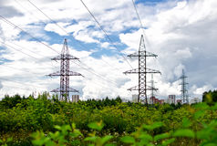 High voltage towers. Stock Photography