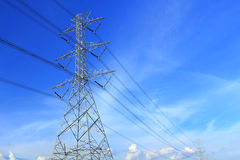 High voltage towers Royalty Free Stock Photos