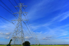 High voltage towers Royalty Free Stock Photo