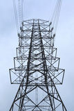 High voltage towers. On sky background Stock Photo