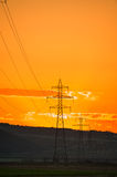 Transmission line grid Stock Photos
