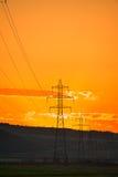 Transmission line grid Stock Photos