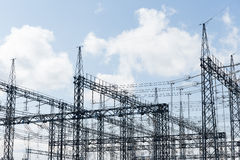 High voltage towers Royalty Free Stock Image