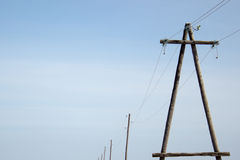 High voltage towers Stock Images