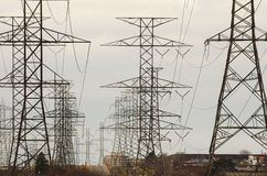 High Voltage Towers Stock Image