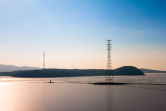 High-voltage towers. Stock Photo