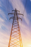 High voltage towers Stock Photos