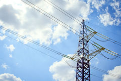 High voltage towers with sky Royalty Free Stock Images