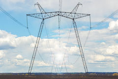 High voltage towers. Stock Images