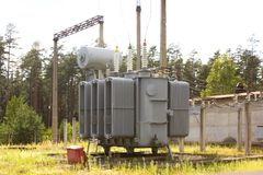 The high-voltage transformer Royalty Free Stock Image