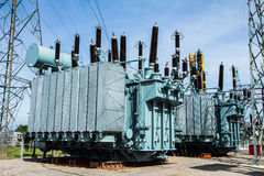 High voltage transformer Stock Image