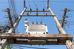 High-voltage transformer Stock Photography