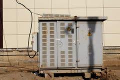 High voltage transformer Stock Image